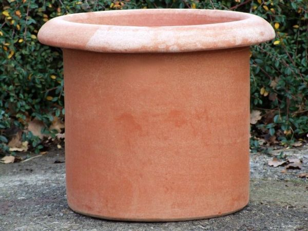 Impruneta Terracotta - Cilindro Con Borda